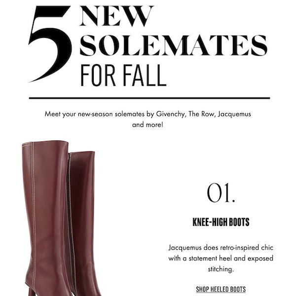 Top 5 New Solemates for Fall 2019