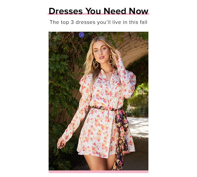 Dresses You Need Now. The top 3 dresses you'll live in this fall