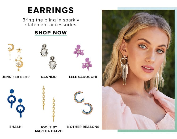 Earrings. Bring the bling in sparkly statement accessories. Shop now.