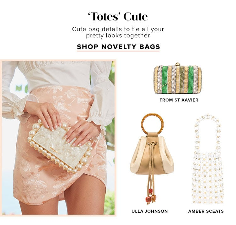 'Totes' Cute. Cute bag details to tie all your pretty looks together. Shop novelty bags.