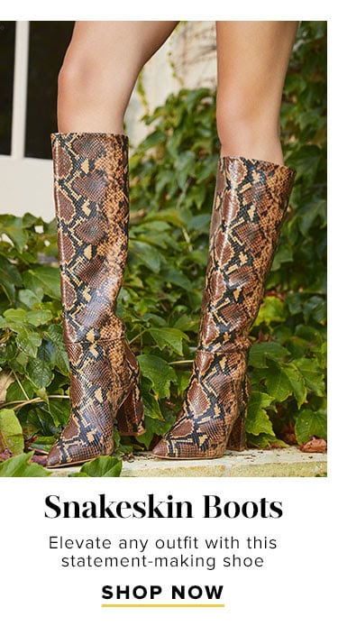 The Fall Shop: Shop Snakeskin Boots