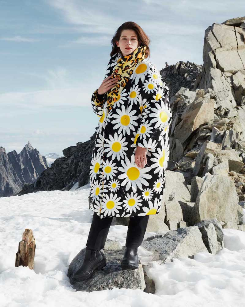 0 Moncler Genius Richard Quinn Daisy-Print Down-Filled Coat