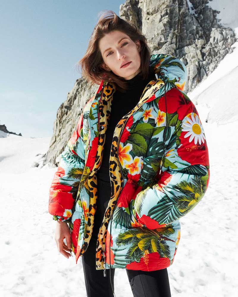 0 Moncler Genius Richard Quinn Mary Tropical-Print Down Jacket