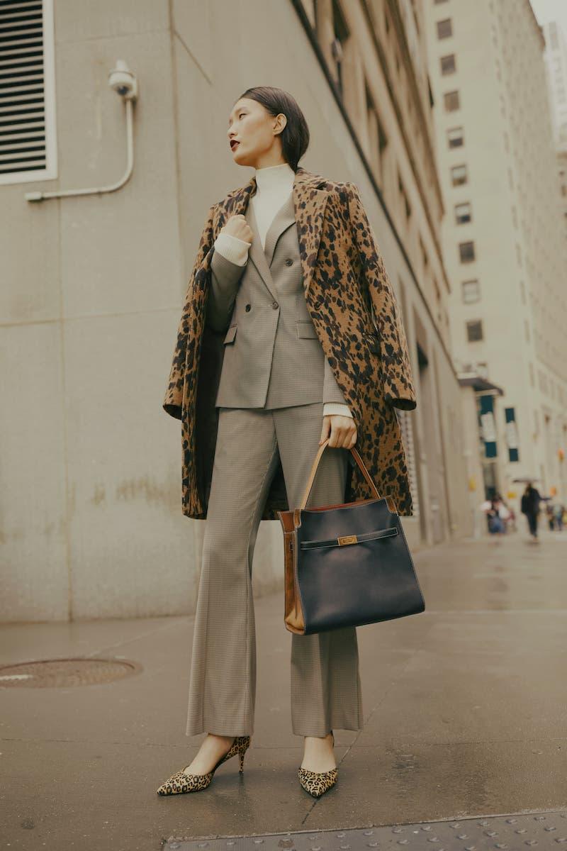 BOSS Jacelynne Check Suit Jacket