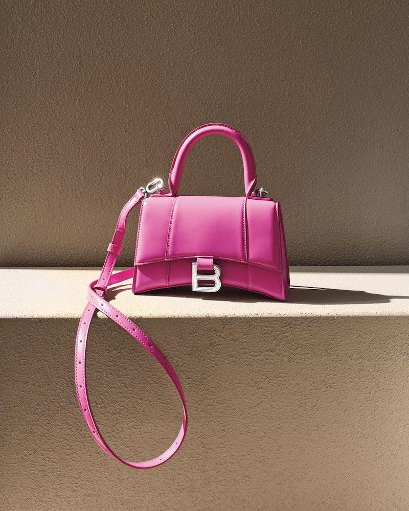 Balenciaga Hour XS Neon Shiny Box Calf Top-Handle Bag
