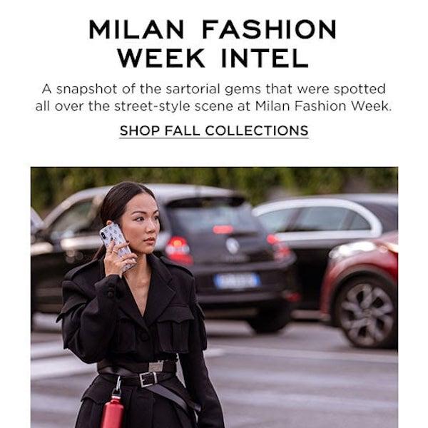 Bergdorf Goodman Milan Fashion Week Intel 2019