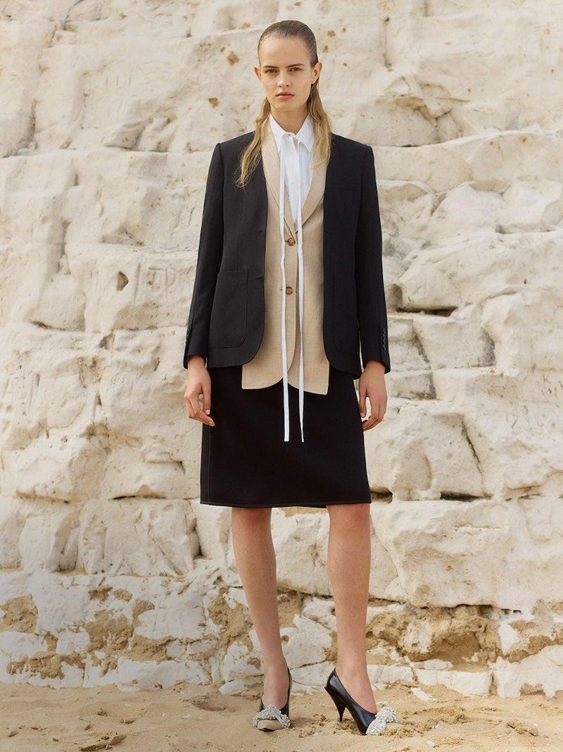 Burberry Panelled Neoprene Midi Skirt