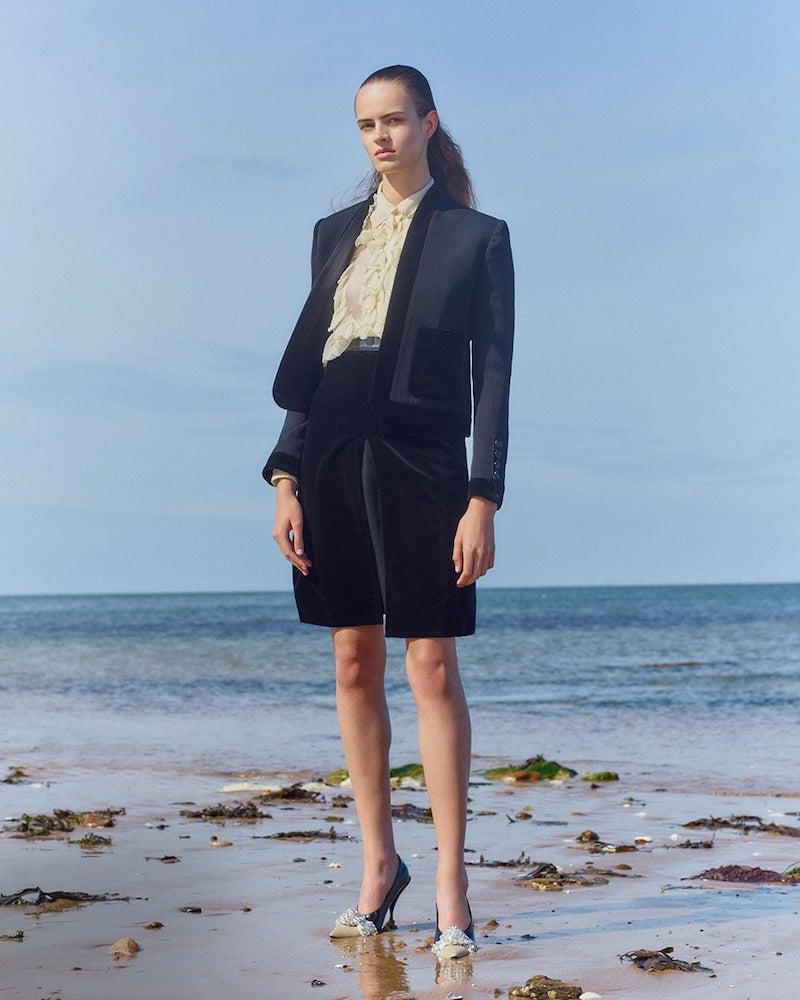 Burberry Velvet-Trimmed Wool Jacket