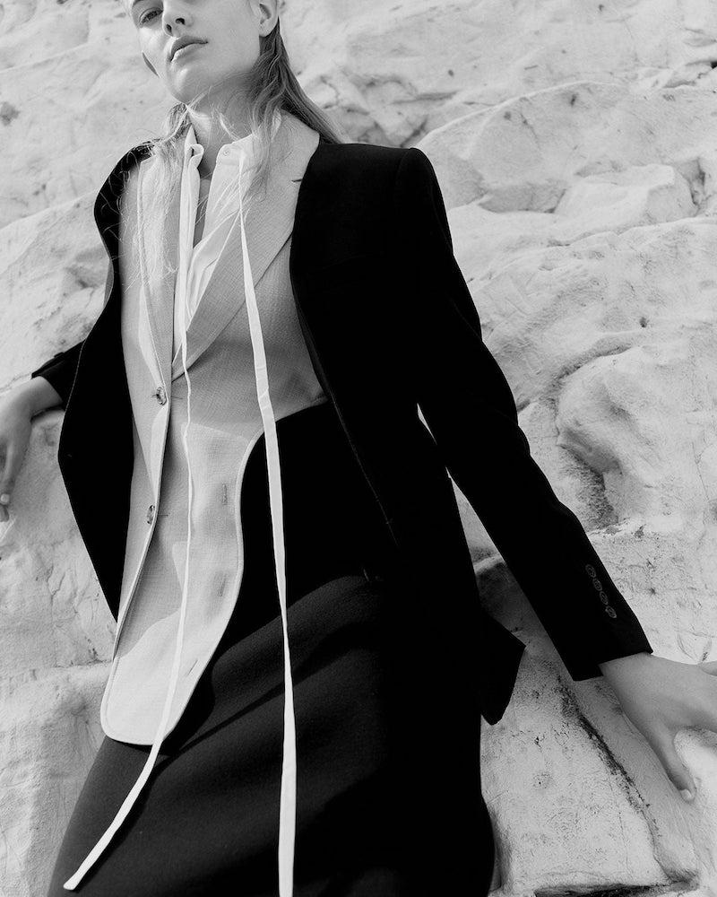 Burberry Waistcoat Insert Single-Breasted Wool Jacket