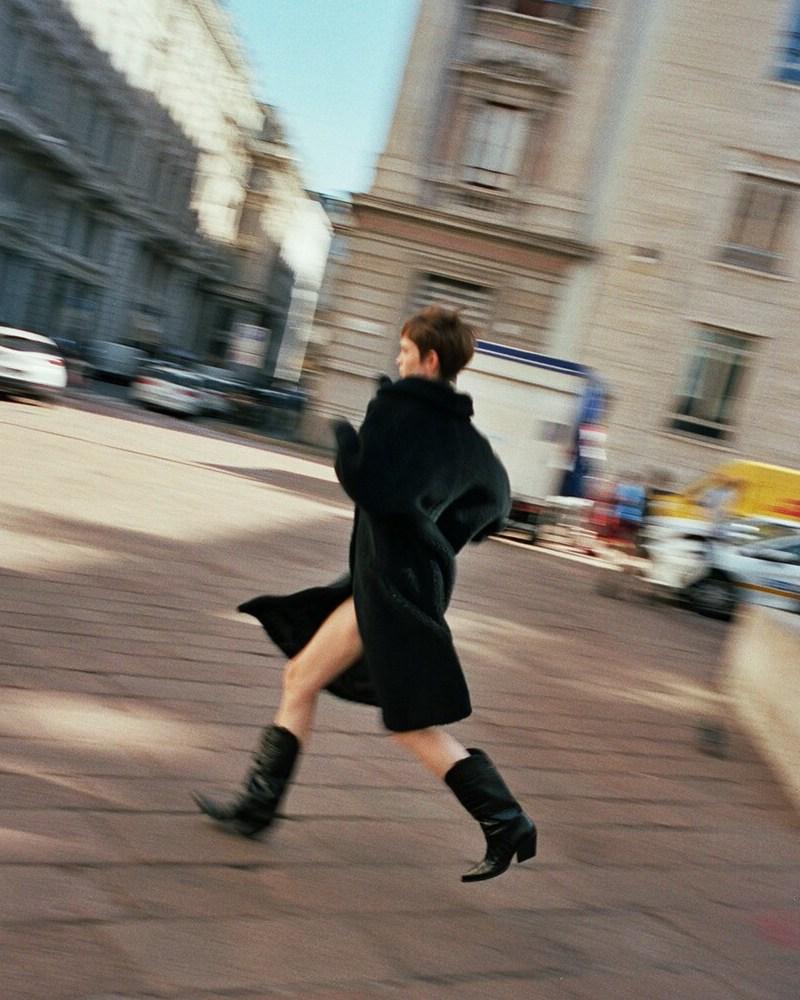 Elena Iachi 70mm Croc Embossed Leather Boots