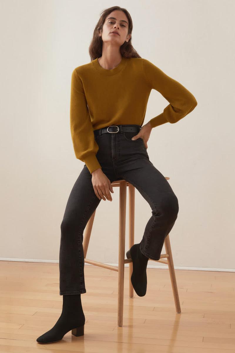 Everlane Cashmere Lantern Sweater 1