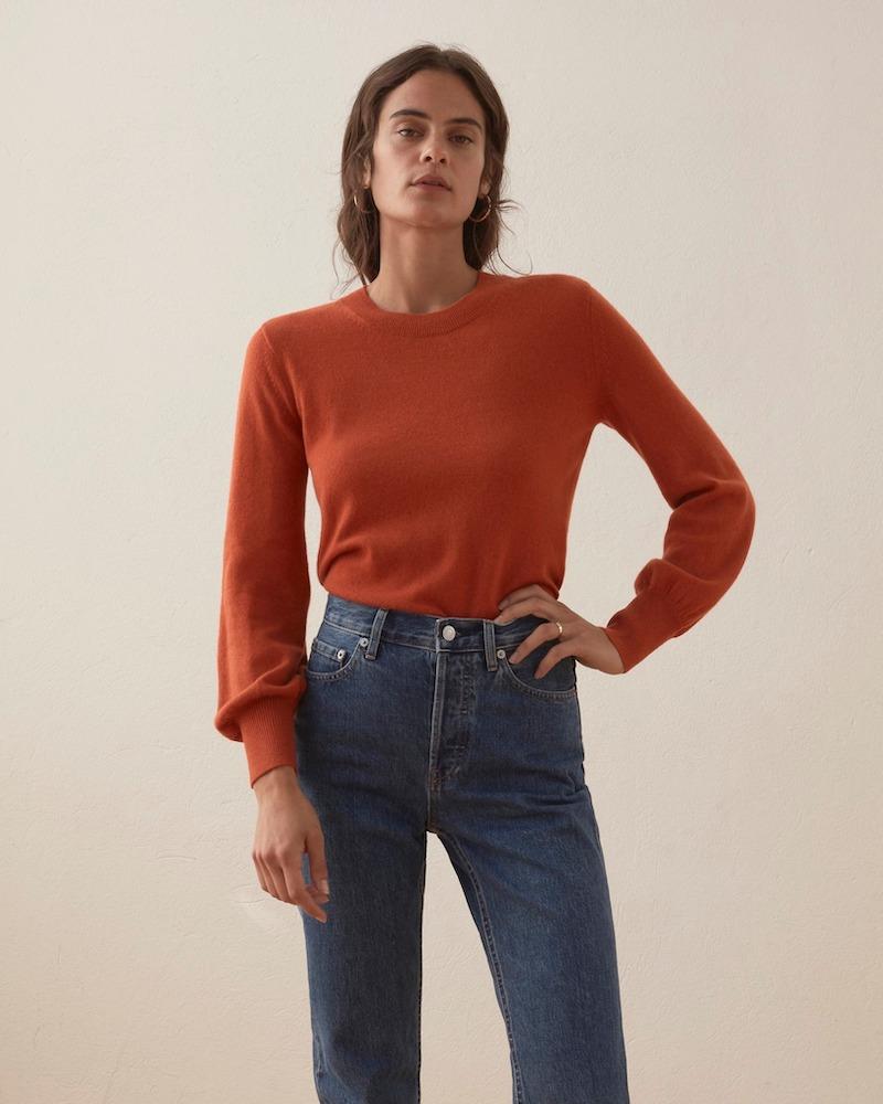 Everlane Cashmere Lantern Sweater 3