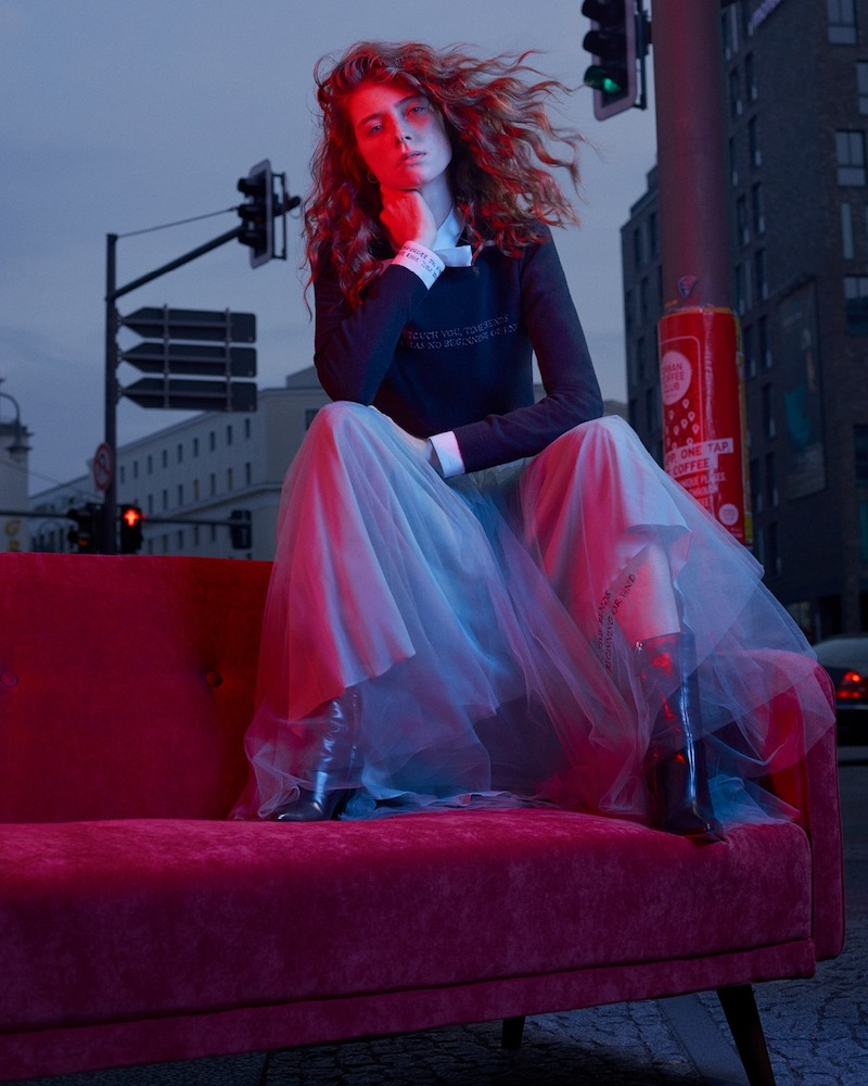 Exclusive to Mytheresa Valentino Tulle Midi Skirt