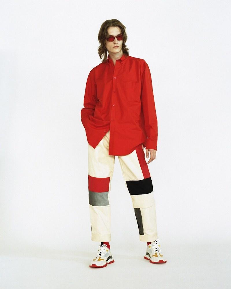 GR Uniforma x Diesel Red Tag Patchwork Cotton Canvas Pants