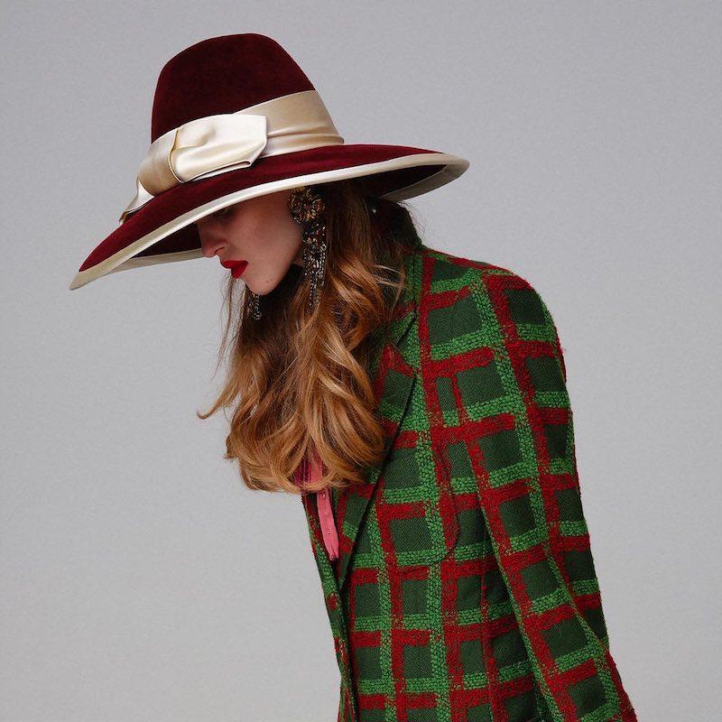 Gucci LVR Exclusive Burgundy Rabbit Felt Hat