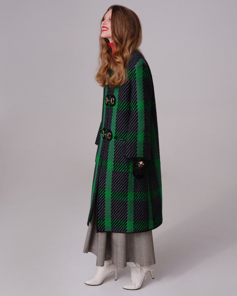 Gucci LVR Exclusive Check Wool Coat