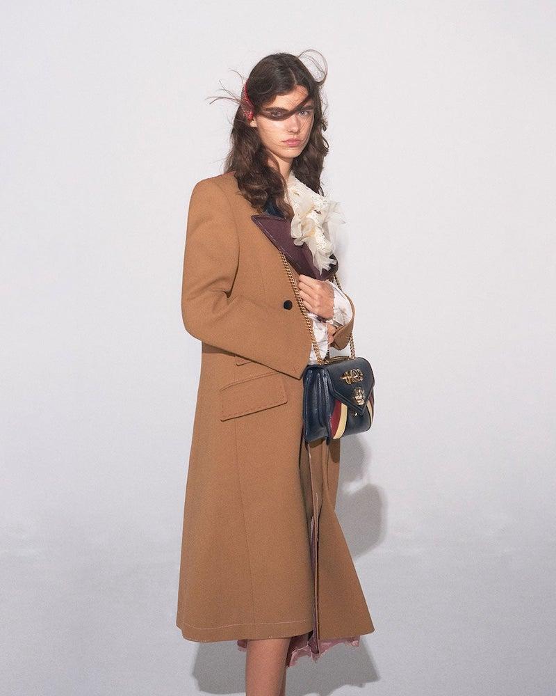 Gucci Peak Lapel Double-Breasted Coat