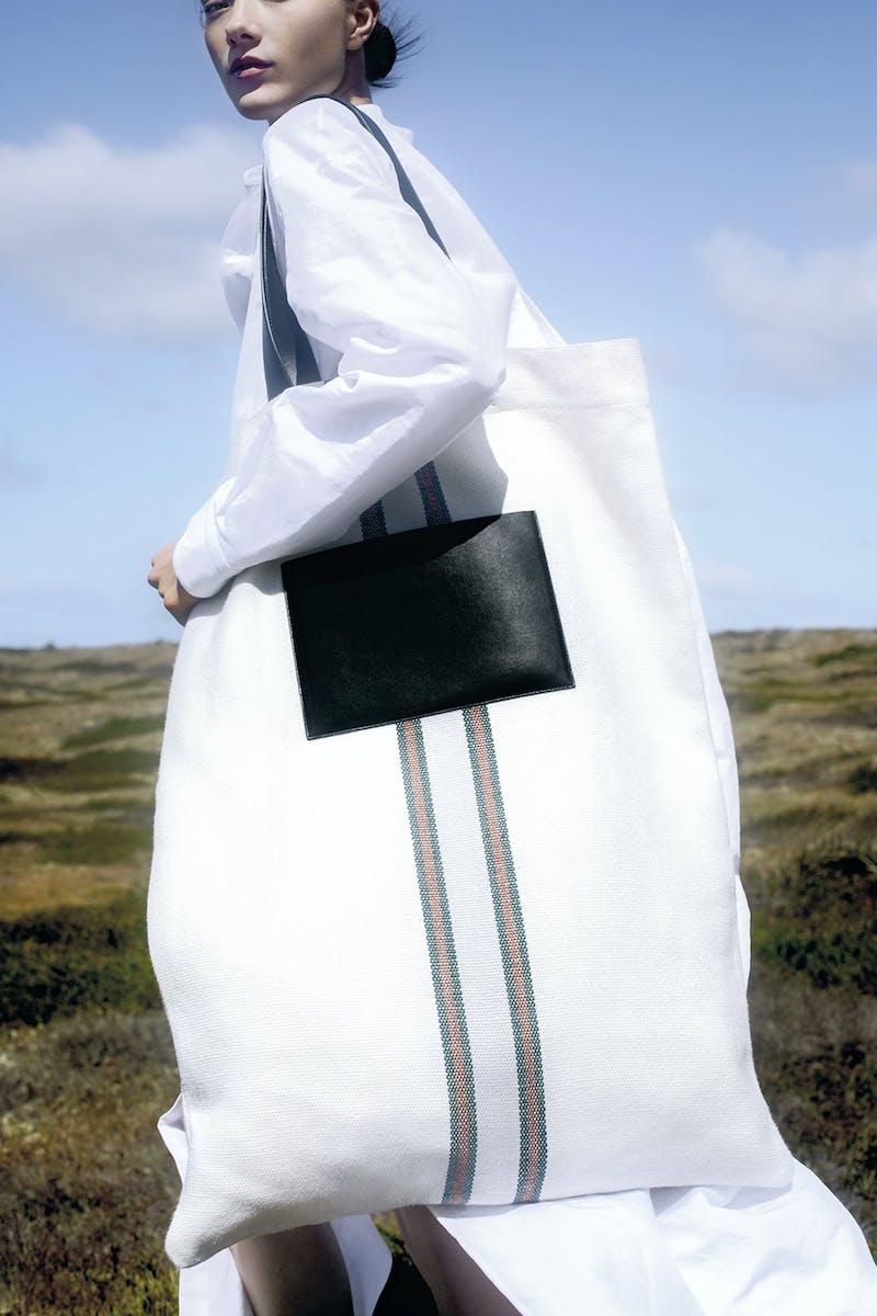 Jil Sander Exclusive to Mytheresa – Leather-Trimmed Canvas Shoulder Bag