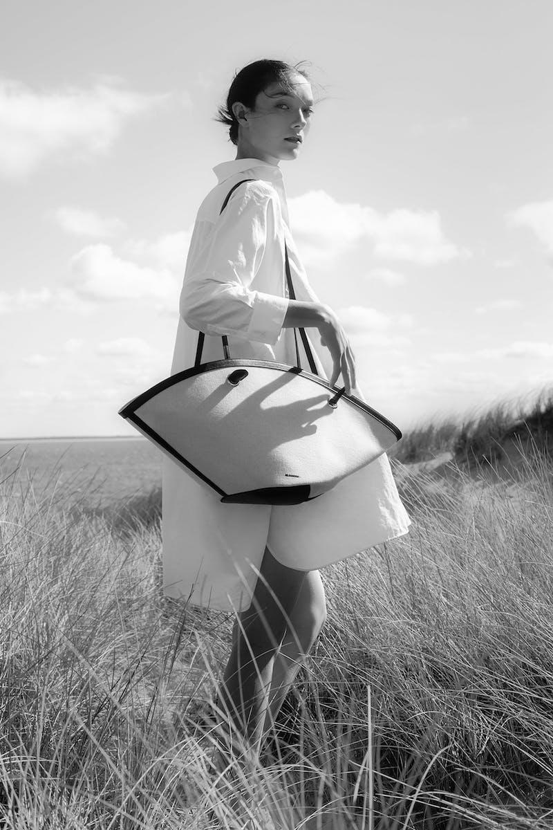 Jil Sander Exclusive to Mytheresa – Sombrero Medium Linen Tote