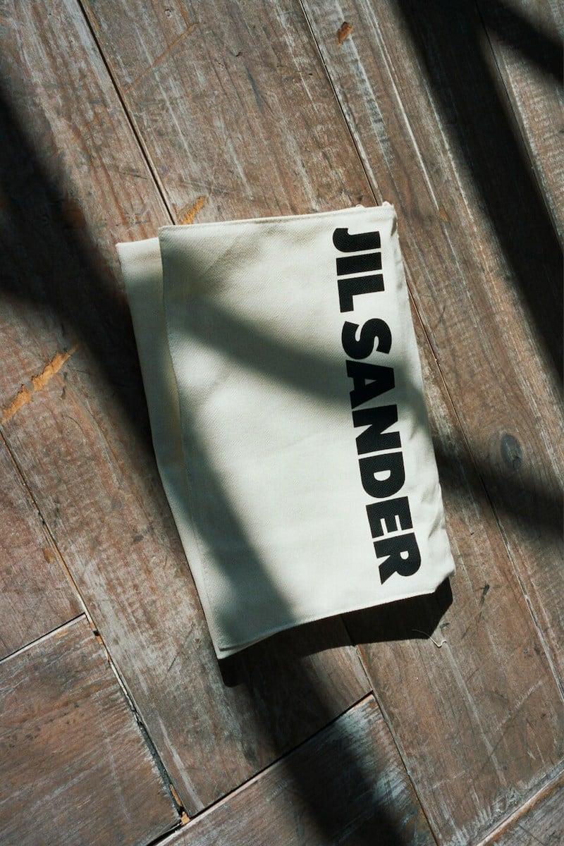Jil Sander Logo-Printed Canvas Clutch