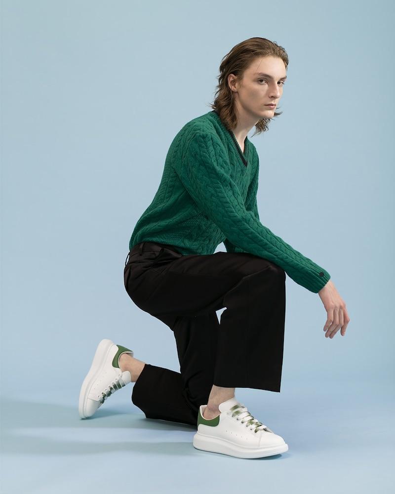 Lanvin Asymmetric Wool & Alpaca Blend Sweater