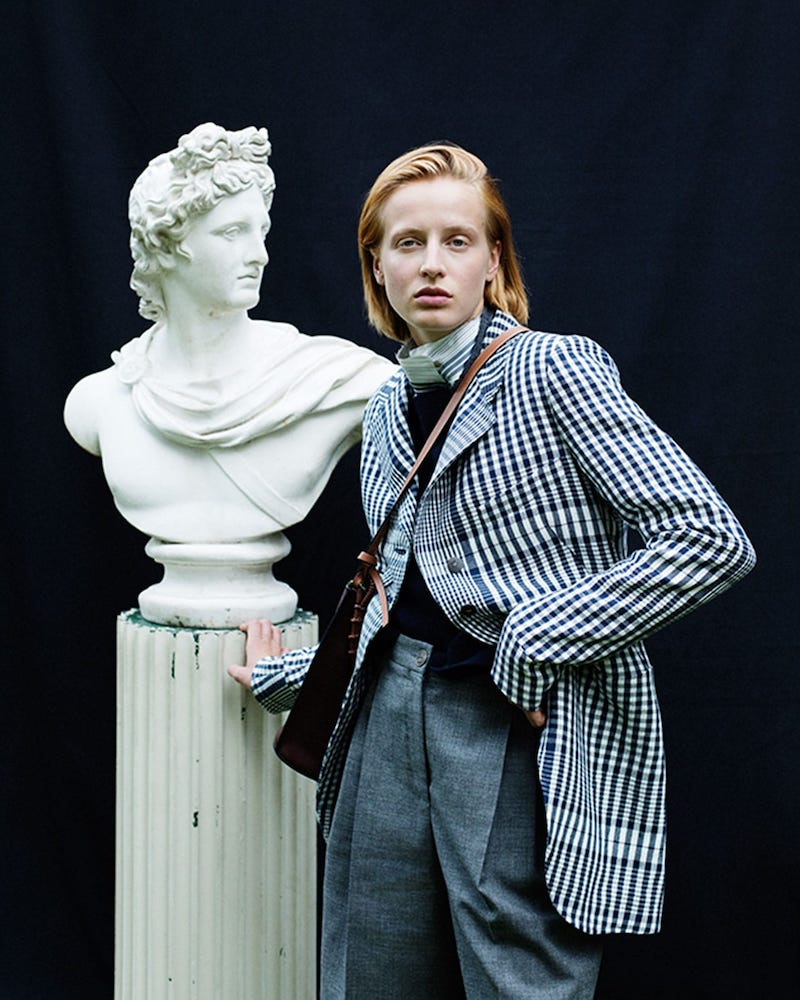 Loewe Checked Single-Breasted Canvas Jacket