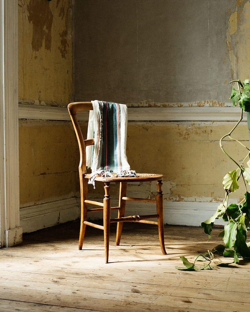 Loewe Striped Cotton Scarf