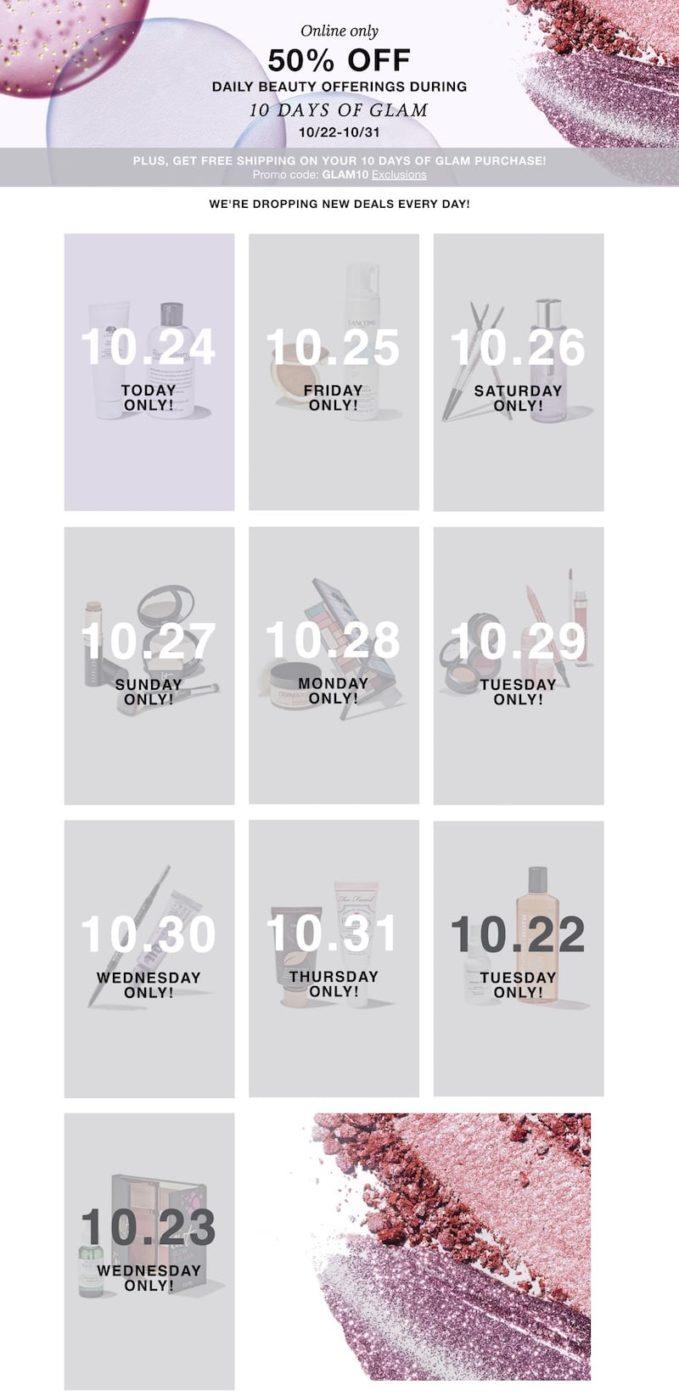 Macys Ten Days of Glam Details