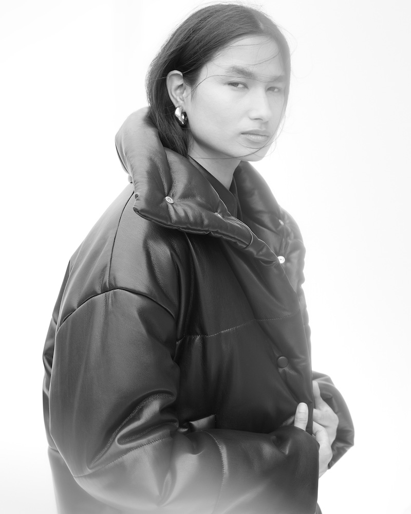Nanushka Hide Vegan-Leather Puffer Jacket