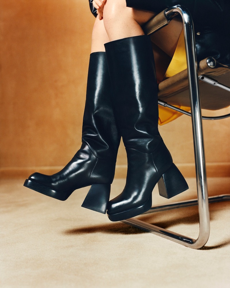 Nodaleto 85mm Bulla Solal Leather Tall Boots