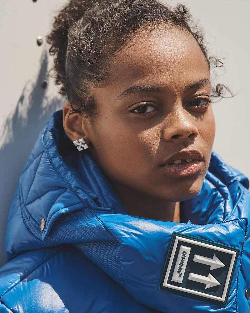 Off-White Blue Down Jacket