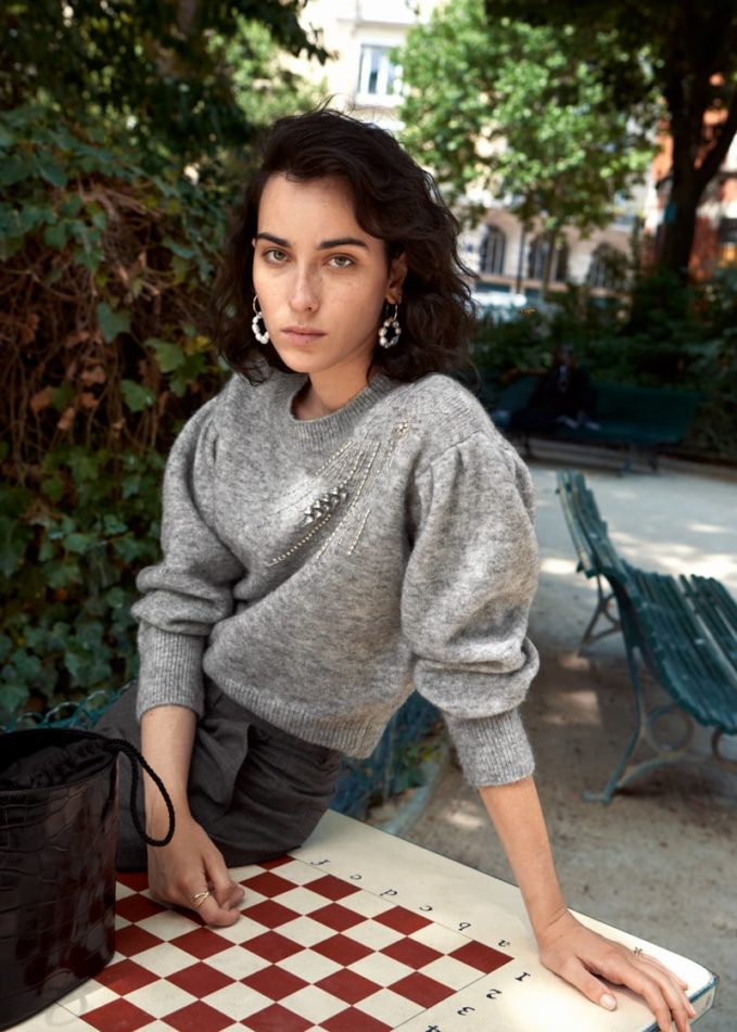 & Other Stories Embellished Wool Blend Sweater