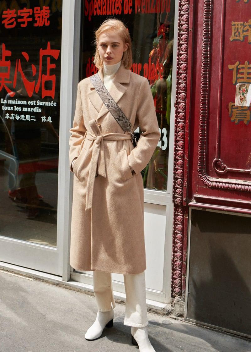 & Other Stories Oversized Alpaca Blend Coat