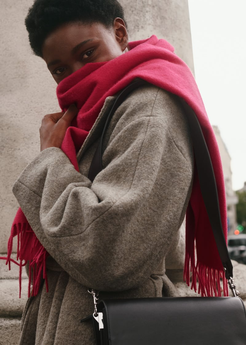 & Other Stories Oversized Belted Wool Coat