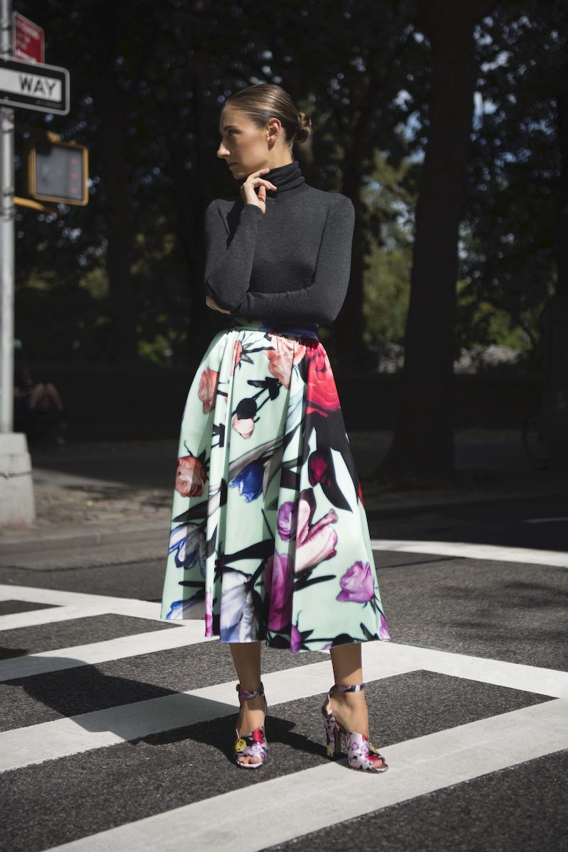 Prada Floral Duchess-Satin Full Midi Skirt
