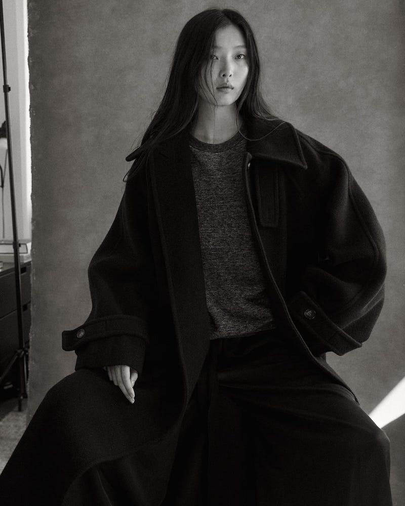 Raey Oversized Raglan-Sleeve Wool-Blend Coat