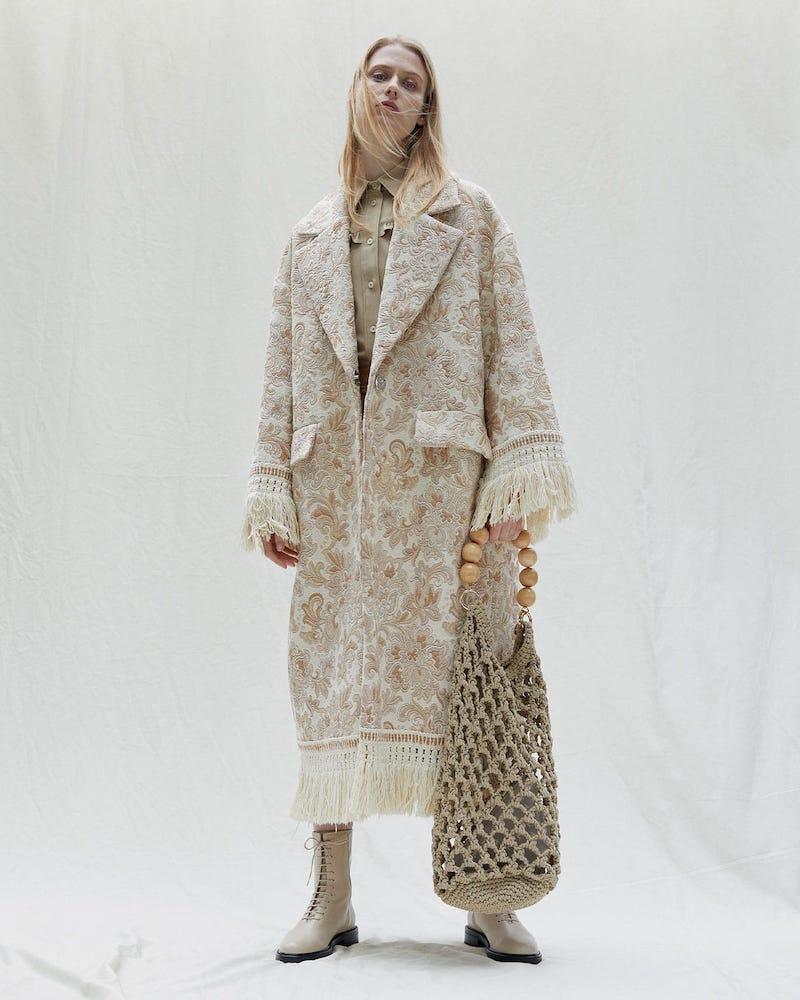 Rave Review Lue Tasselled Vintage-Jacquard Coat