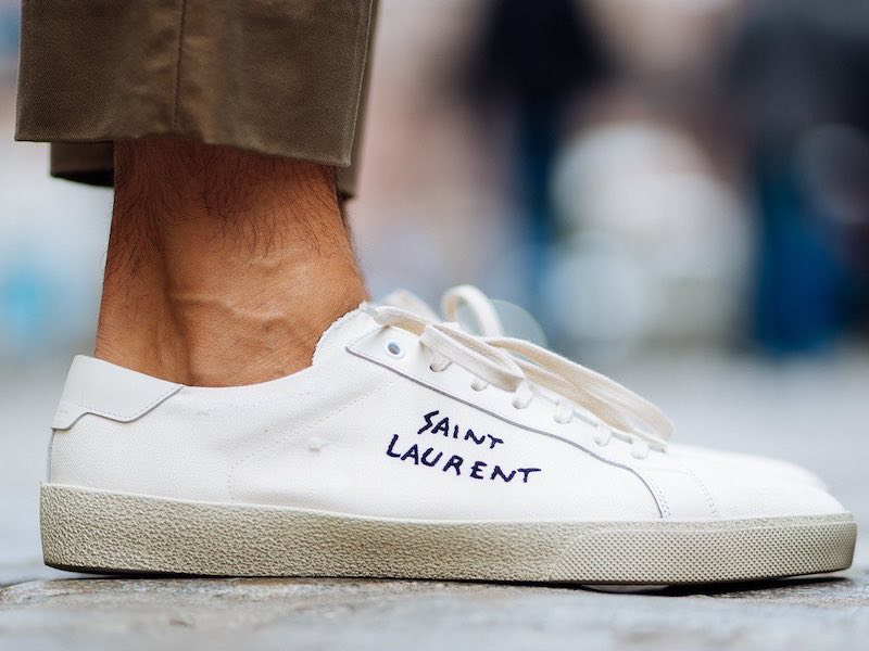 Saint Laurent Court Classic Embroidered Logo Sneaker