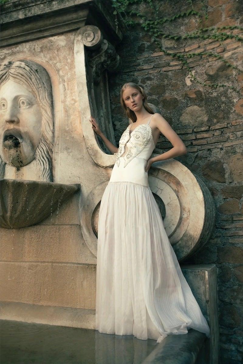 Sandra Mansour Embellished Heart Satin & Organza Dress
