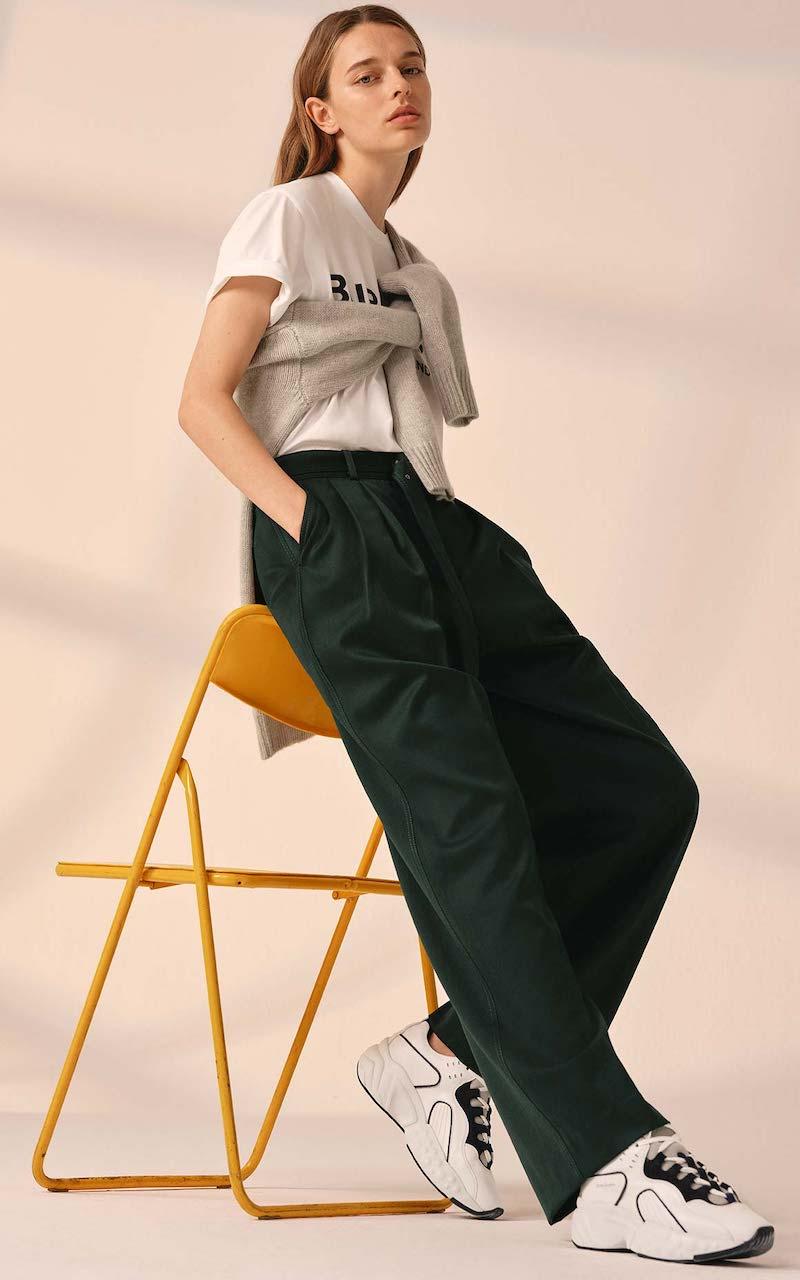 Sies Marjan Blanche Wool-Twill Wide-Leg Pants