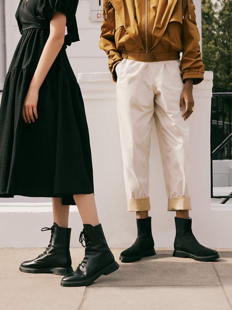 Stuart Weitzman Sondra Faux Pearl-Embellished Leather Ankle Boots
