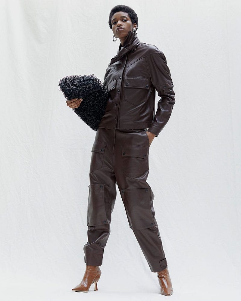 Symonds Pearmain Deconstructed Leather Jacket