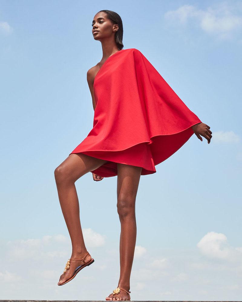 Valentino One-Shoulder Shift Dress