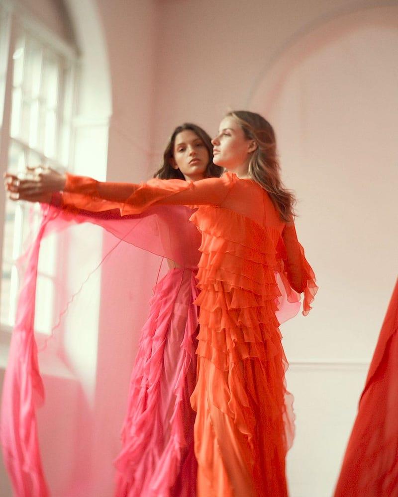 Valentino Ruffled Silk-Chiffon Gown