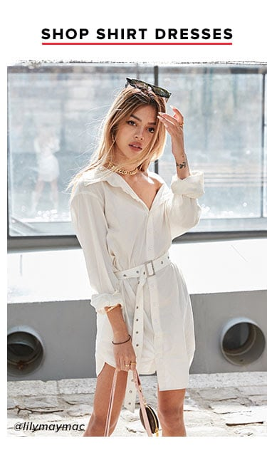 SHOP SHIRT DRESSES