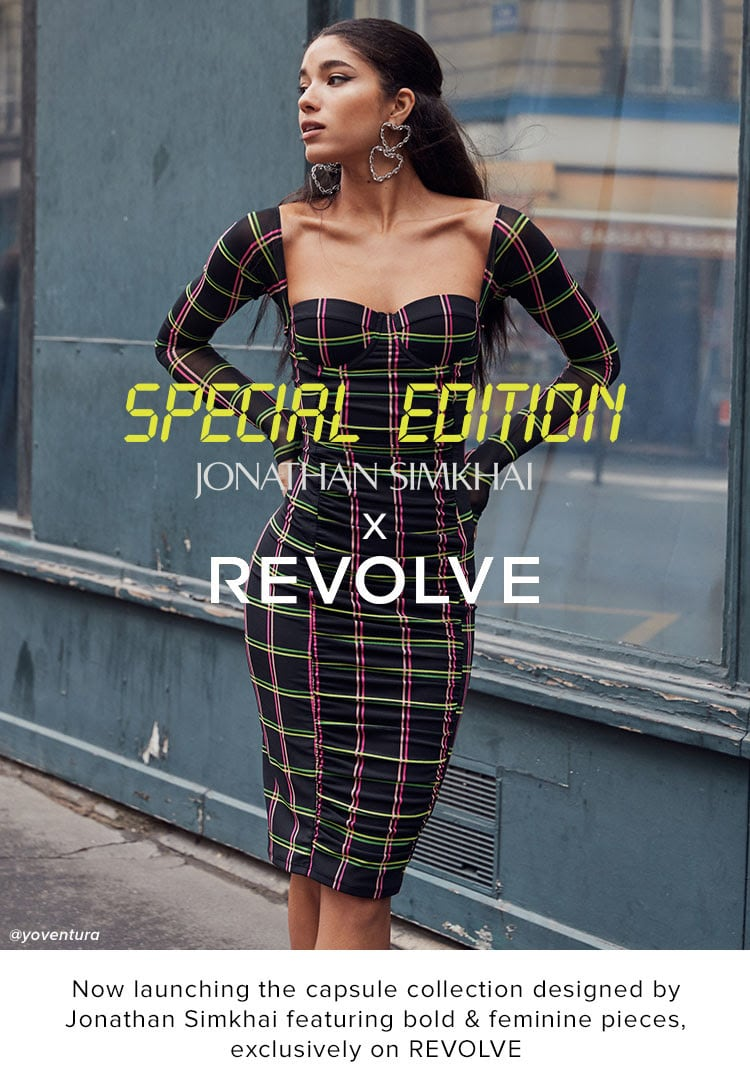 JONATHAM SIMKHAI x REVOLVE. Now launching the capsule collection designed by Jonathan Simkhai featuring bold & feminine pieces, exclusively on REVOLVE