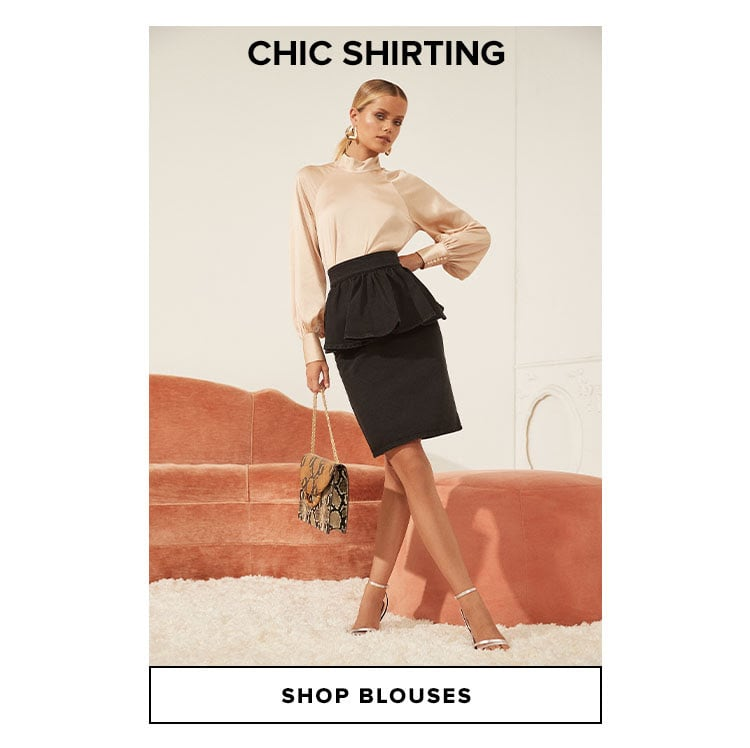 Chic Shirting. Shop Blouses.