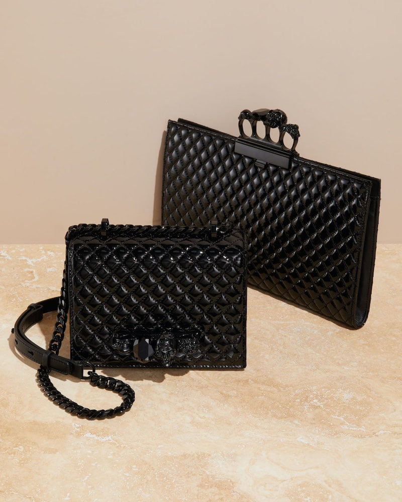 Alexander McQueen Shiny Quilted Shoulder Bag