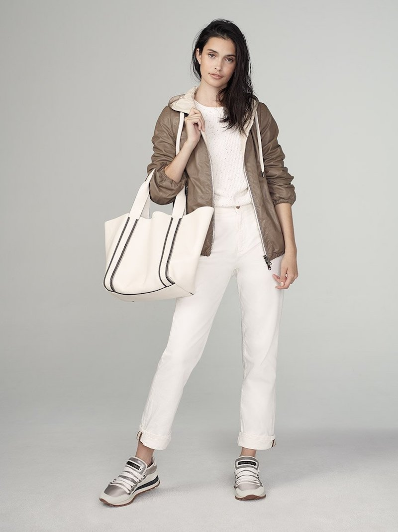 Brunello Cucinelli Reversible Leather Hoodie Jacket