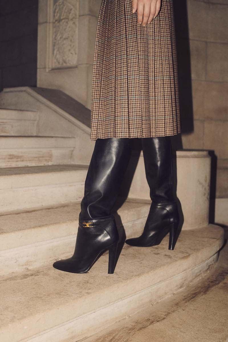 CELINE Claude Calfskin Boots